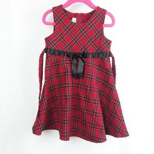 Bonnie Jean Dresses - Bonnie Jean Red Plaid Dress